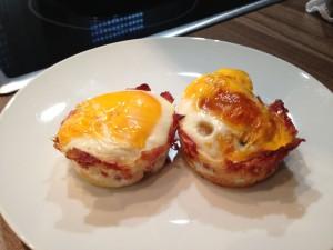 Eier Muffins mit Bacon - Das Ergebnis