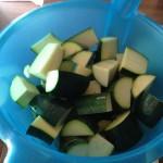 Marinierte Zucchini aus dem Backofen