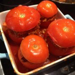Gefüllte Tomaten Chili con carne